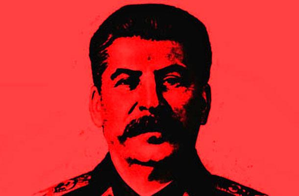 Сталин в красных оттенках