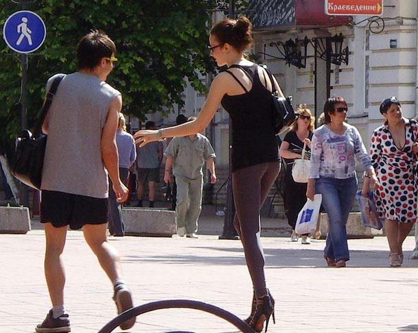 урок пикапа на улице